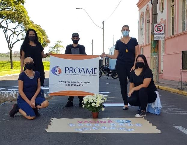 Movimento Vacina Já: Proame participa de ato em homenagem às vítimas da Covid